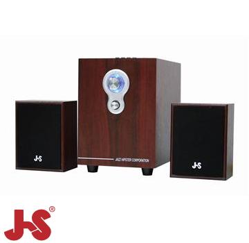 JS 淇譽 2.1聲道三件式插卡全木質喇叭