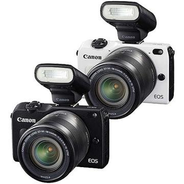 Canon EOS M2微單眼相機 KIT+90EX閃光燈-黑(18-55mm (中文平輸))