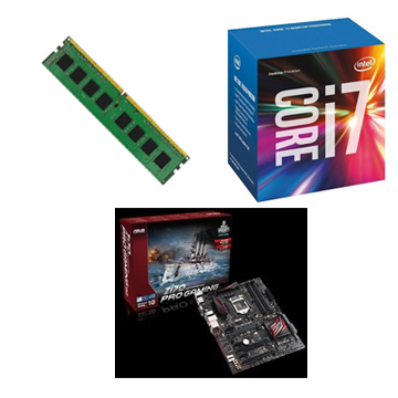 Intel CPU Core i7 6700 + ASUS Z170 PRO GAMING + 8G()