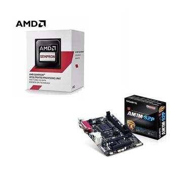 AMD Semperon 3850 四核處理器 + 技嘉 GA-AM1M-S2P 主機板()