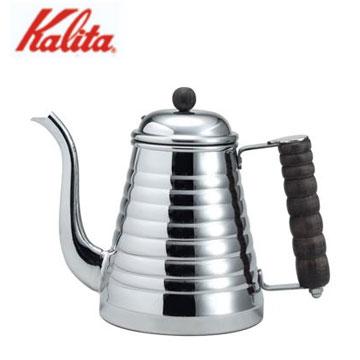 【福利品】Kalita 1L不銹鋼木柄手沖壺-IH爐用