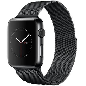 【42mm】Apple Watch 米蘭式錶環 / 太空黑不鏽鋼(MMG22TA/A)