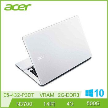 ACER E5-432 N3700 四核文書筆電(E5-432-P3DT白)