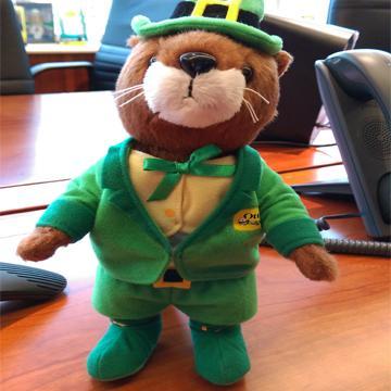 OtterBox OLLIE軟毛公仔玩具-綠精靈(Ollie-Toy-St.Patrick)
