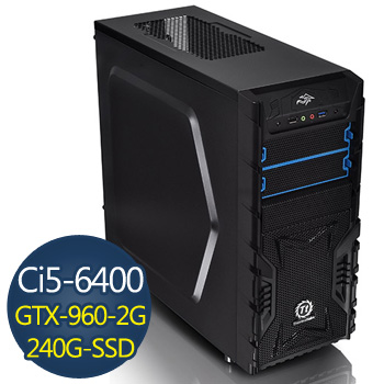華碩電競-寒冰戰士 Ci5-6400 8G 240G GTX960 電競獨顯(WX3-TKB5640-8SS296A)