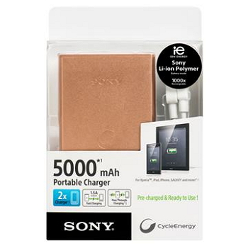【5000mAh】SONY 行動電源(古銅金)(CP-S5/STC)