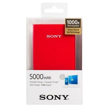 【5000mAh】SONY 行動電源(紅)(CP-V5A/RC)