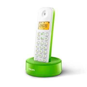 【福利品】飛利浦多彩國民機數位無線電話(白綠)(D1301WN)