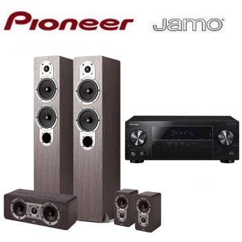 PIONEER 5.1聲道AV環繞擴大機+JAMO 五聲道喇叭組