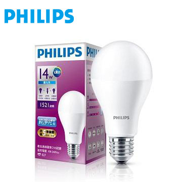 飛利浦全電壓 LED燈泡14W白光(929001199345)