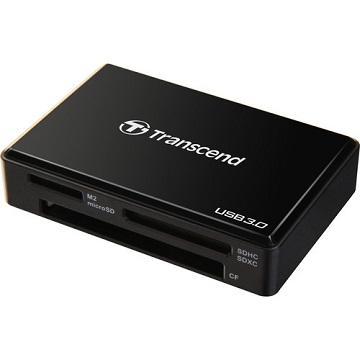 創見USB3.0 多功能讀卡機 (黑)(TS-RDF8K)