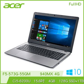 【混碟款】ACER F5-573G Ci5 940MX獨顯筆電(F5-573G-55GM灰)