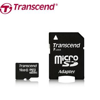 【16G / C10】創見 MicroSD記憶卡-附轉卡(TS16GUSDHC10)
