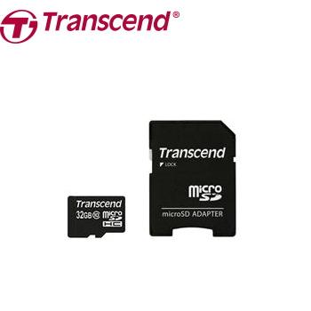 【32G】創見microSD C10記憶卡-附轉卡(TS32GUSDHC10)
