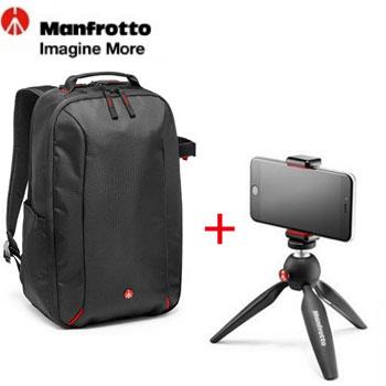 Manfrotto PIXI ART 限量版輕巧迷你腳架+Essential經典玩家雙肩後背包()