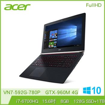 【混碟款】ACER VN7-592G Ci7 960M電競獨顯筆電腦(VN7-592G-780P)