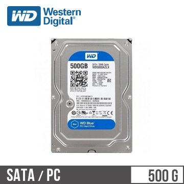 【500G】WD 3.5吋 SATA硬碟(藍標)(WD5000AZLX/3y)