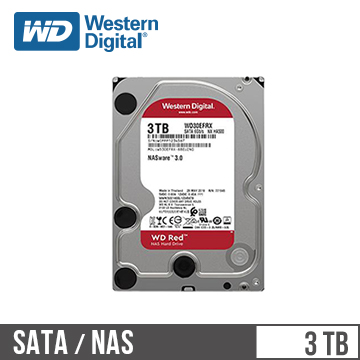 【3TB】WD 3.5吋 NAS硬碟(紅標)(WD30EFRX(NASware3.0))