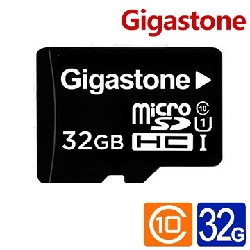 【U1】Gigastone microSD 32G 記憶卡(附轉卡)(GST microSD 32G U1)