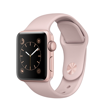 【38mm】Apple Watch Series 1/玫瑰金色鋁金屬/粉沙色運動(MNNH2TA/A)
