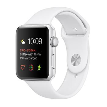 【42mm】Apple Watch Series 1/銀色鋁金屬/白色運動