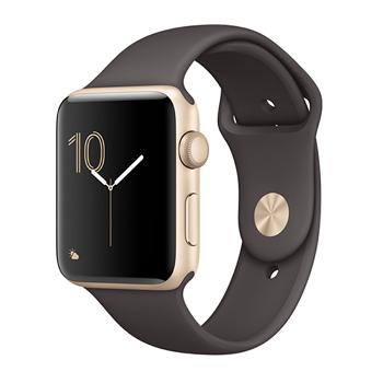【42mm】Apple Watch Series 2/金色鋁金屬/可可色運動(MNPN2TA/A)