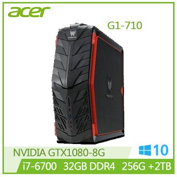 【福利品】ACER G1-710 Ci7-6700 GTX1080 電競主機