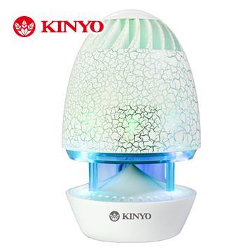 KINYO 魔幻彩蛋裂紋立體聲喇叭(US-180)