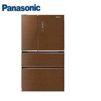 Panasonic 500公升ECONAVI四門玻璃變頻冰箱(NR-D508NHGS-T(翡翠棕))