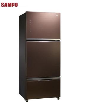 【福利品 】聲寶 530公升玻璃三門變頻冰箱(SR-P53GDV(R7))