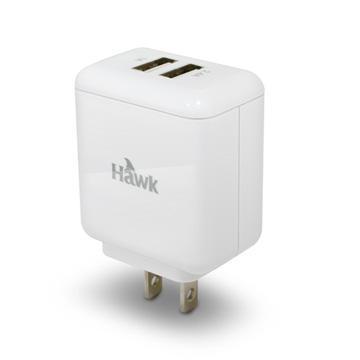 Hawk T935 3.4A雙USB極速電源供應器-白(01-HUT935RWH)