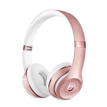 ,【整新展示品】BeatsSolo3耳罩式無線耳機-玫瑰金