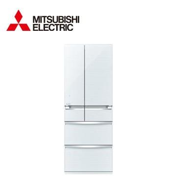 【福利品 】MITSUBISHI 605公升玻璃六門變頻冰箱(MR-WX61Z-W)