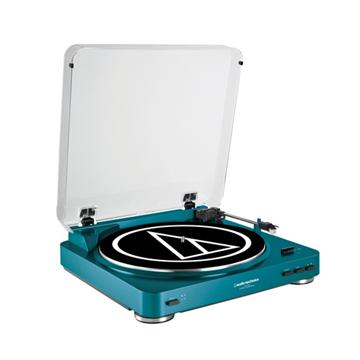 audio-technica 黑膠唱盤(AT-LP60 BL(藍))