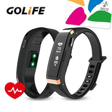 【心率款】GOLiFE Care X HR 智慧悠遊手環-金黑(Care X HR-金黑)