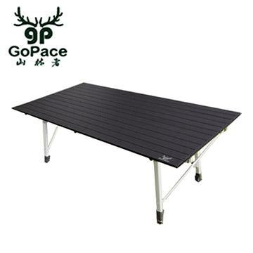 GoPace山林者 黑金鋼巨人蛋捲桌2入組(GP-17661 黑)