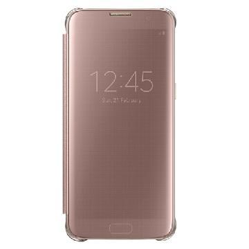 SAMSUNG S7 Edge 全透視感應皮套-金
