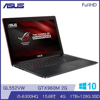 ASUS GL552VW Ci5 NV960 筆記型電腦(GL552VW-0081A6300HQ)