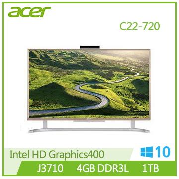 【福利品】【22型】Acer Aspire C22-720 J3710四核桌上型電腦(C22-720(J3710))