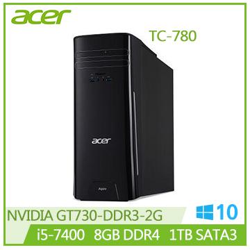 【福利品】Acer TC-780 Ci5-7400 GT730 桌上型主機