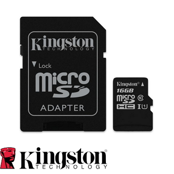 【16G / U1】金士頓 MicroSD記憶卡(SDC10G2/16GBFR)