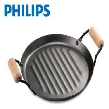 【拆封品】飛利浦圓形碳鋼不沾烤盤