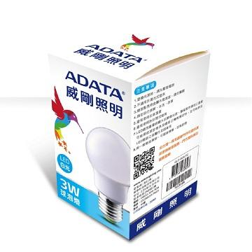 ADATA 威剛3W LED球泡燈-白光(AL-BUA19C-3W65)
