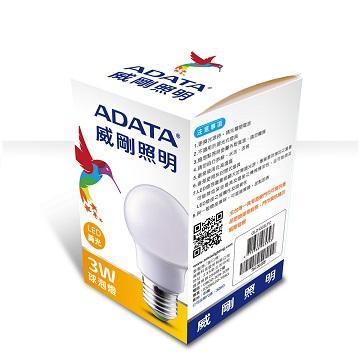 ADATA 威剛3W LED球泡燈-黃光(AL-BUA19C-3W30)