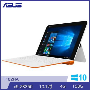 ASUS T102HA Z8350 128GB 輕巧筆電(T102HA-0093AZ8350橘白)