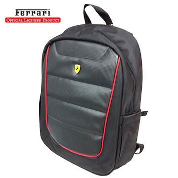 【15吋】Ferrari 法拉利 筆電後背包-黑(FEBPSV15BK)