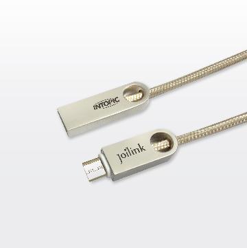 INTOPIC Micro USB鋅合金充電編織傳輸線(CB-MUC-10)