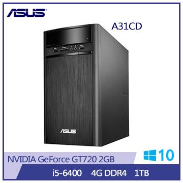 【福利品】ASUS A31CD Ci5-6400 GT720 桌上型電腦