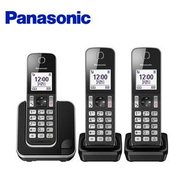 Panasonic中文顯示三機數位無線電話(KX-TGD313TWB)