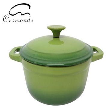 克洛蒙琺瑯鑄鐵鍋21CM(綠)(SE-K1610G)
